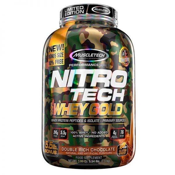 Muscletech NitroTech CAMO Whey Gold 5.5 Lbs Chocolate