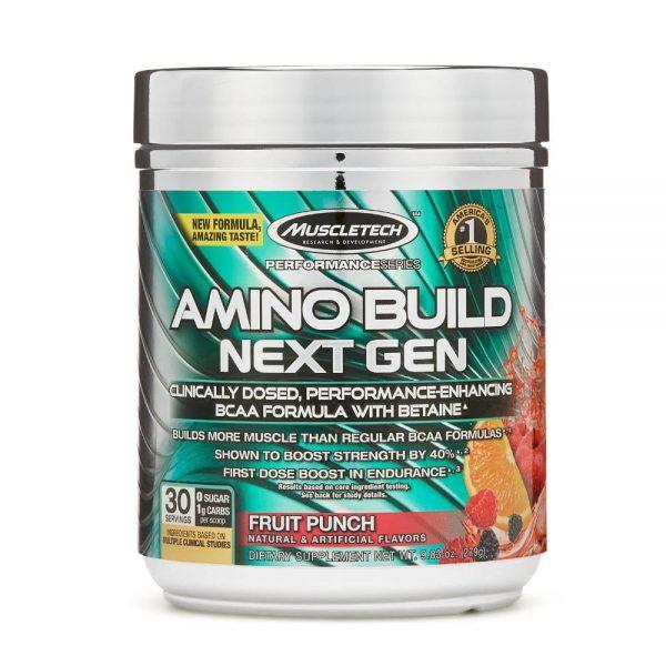 Muscletech Amino Build (30 Servicios) Ponche de Frutas