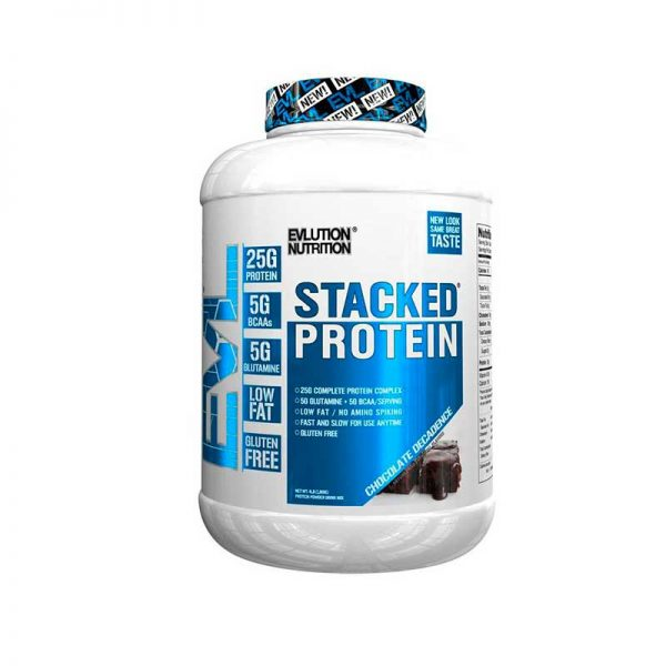EVL 100% Stacked protein whey 4LBS Chocolate