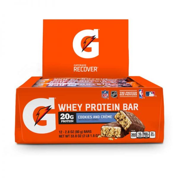Gatorade Whey Protein Bar (Caja 12 Pzs) Cookies and Cream