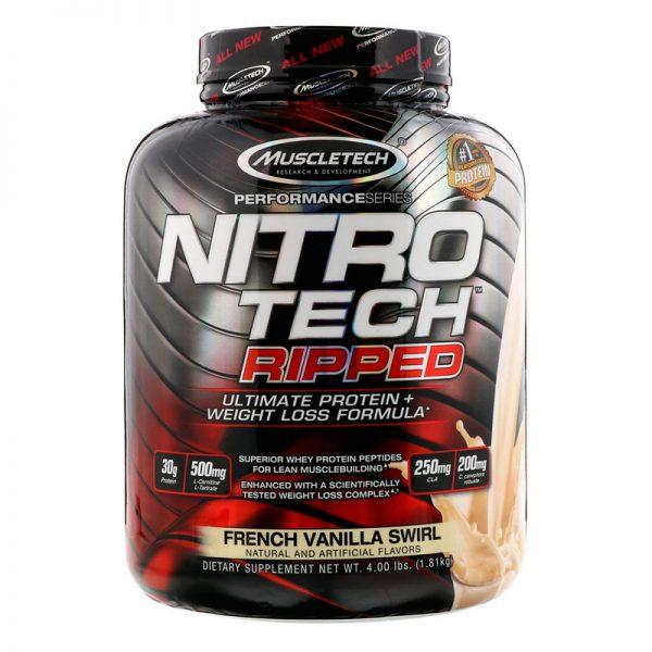 Muscletech NitroTech Ripped 4Lbs Vainilla Francesa