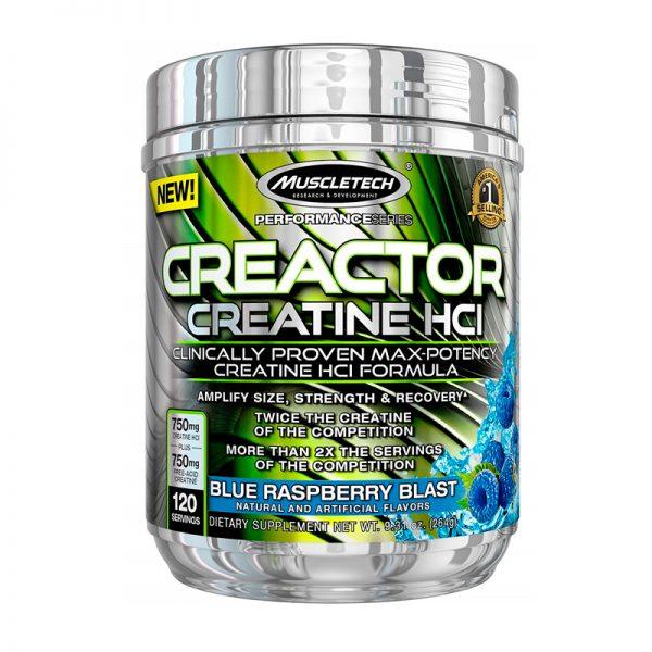 Muscletech Creatina Creactor HCI Blue Raspberry Blast