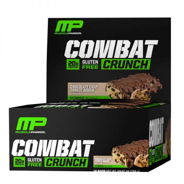 MusclePharm Barritas de proteína Combat Crunch 12 Pack Chocolate Chip