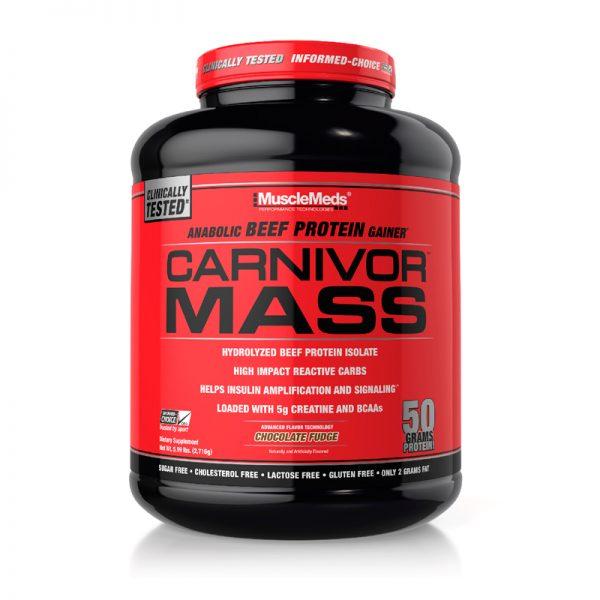 MuscleMeds Carnivor Mass 5.9 Lbs Chocolate Fudge
