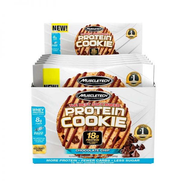 Galletas de Proteina Muscletech Cookies Protein 6 Pack Chocolate Chip